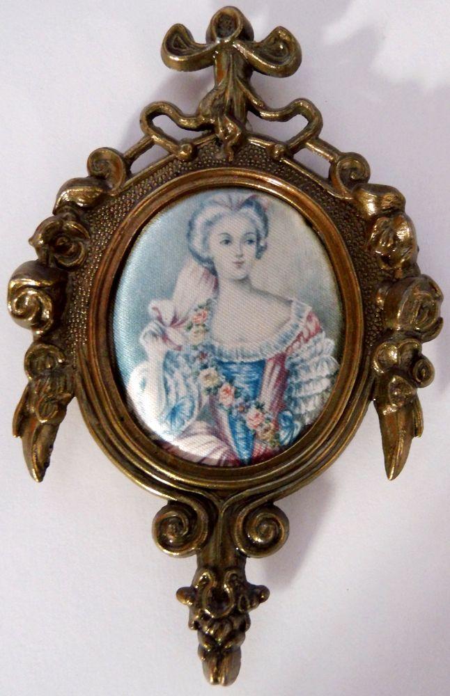 Marie Terezie oválná miniatura v kovovém rámečku